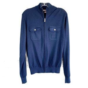 Michael Kors blue zip up sweater